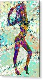 Painted Lady Acrylic Print by Kiki Art