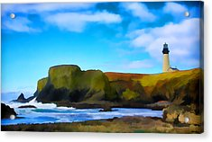 Painted Lighthouse Acrylic Print by Steve McKinzie