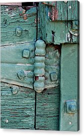 Painted Metal And Wood Acrylic Print