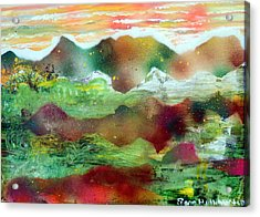 Painted Plateau Acrylic Print