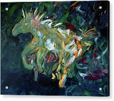 Painted Pony Close-up Acrylic Print by Lance Headlee