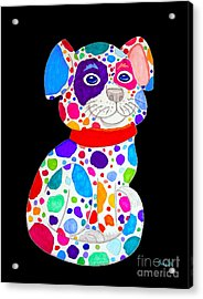 Painted Pooch 2 Acrylic Print by Nick Gustafson