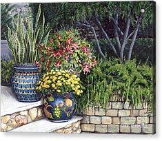 Painted Pots Acrylic Print