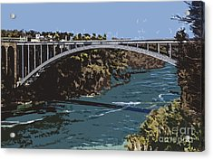 Acrylic Print featuring the photograph Painted Rainbow Bridge by Jim Lepard