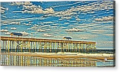 Surreal Reflection Pier Acrylic Print by Paula Porterfield-Izzo