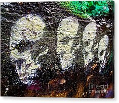 Painted Skulls Acrylic Print by Kelly Holm
