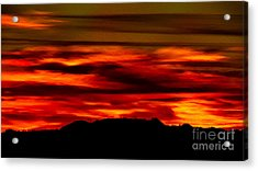 Acrylic Print featuring the photograph Painted Sky 34 by Mark Myhaver