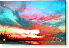 Acrylic Print featuring the photograph Painted Sky by Holly Martinson