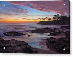 Painted Sky Laguna Beach Acrylic Print by Cliff Wassmann