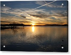 Acrylic Print featuring the photograph Painted Sky by Richard Stephen