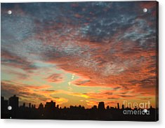 Painted Sky Acrylic Print by Robert Daniels
