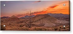 Painted Sunset Acrylic Print by Ryan Manuel