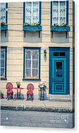 Painted Townhouse In Old Quebec City Acrylic Print