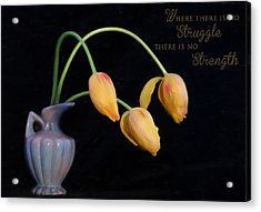 Painted Tulips With Message Acrylic Print