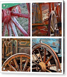Painted Wagons Acrylic Print by Art Block Collections