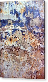 Painted Wall Abstract Acrylic Print by Ben Kotyuk