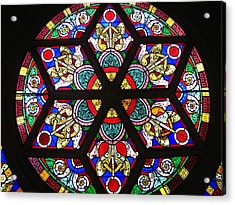 Acrylic Print featuring the photograph Painted Window by Bruce Carpenter