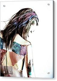 Painted Woman Acrylic Print by Scott Sawyer
