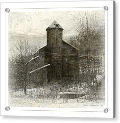 Painterly Old Barn Acrylic Print by John Stephens