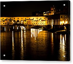 Painterly Ponte Vecchio Firenze Florence Italy Acrylic Print