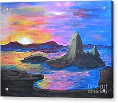 Painting     Grand Finale Acrylic Print by Judy Via-Wolff