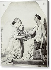 Painting By Paul Delaroche Sainte Cecile Acrylic Print
