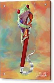 Painting Love Acrylic Print by Ivan Pawluk