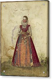 Painting Of A Woman Acrylic Print by British Library