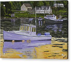 Fishing Boats In Port Clyde Maine Acrylic Print