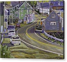 Main Street South Bristol Maine Acrylic Print by Keith Webber Jr