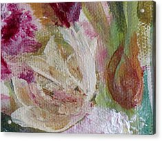 Painting Soft Flowers 2 Acrylic Print by France Laliberte