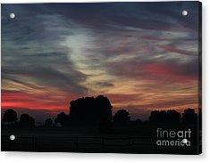Painting Sunrise By Nature Acrylic Print