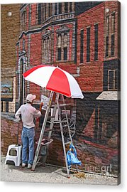 Acrylic Print featuring the photograph Painting The Past by Ann Horn
