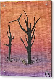 Painting4 Acrylic Print by Keith Nichols