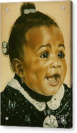 Paintings By Monica C. Stovall - Pastel Portrait Collection No. Pp26 Acrylic Print
