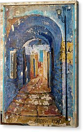 Paintings Of A Building, Hod Hasharon Acrylic Print
