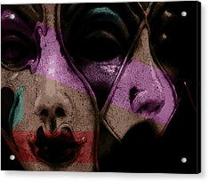 Acrylic Print featuring the digital art Pair by Galen Valle
