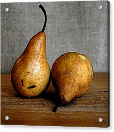 Pair Of Pears Acrylic Print by Cole Black