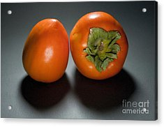 Pair Of Persimmons Acrylic Print by Dan Holm