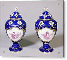 Pair Of Potpourri Vases Potspourris Pompadour, Troisième Acrylic Print by Litz Collection