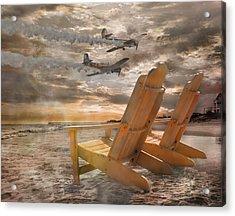 Pairs Along The Coast Acrylic Print by Betsy Knapp