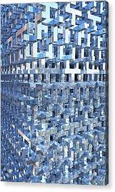 Paisley Block Array Acrylic Print
