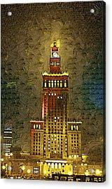 Palac Kultury Acrylic Print by Aleksander Rotner
