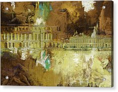 Palace And Park Of Versailles Acrylic Print by Catf