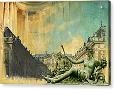 Palace And Park Of Versailles Unesco World Heritage Site Acrylic Print by Catf