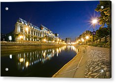 Palace In Bucharest Acrylic Print by Ioan Panaite