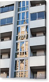 Palace Of Culture And Science Abstract Reflection Acrylic Print by Artur Bogacki