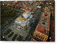 Palace Of Fine Arts In Mexico City Acrylic Print by Www.infinitahighway.com.br