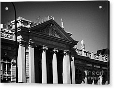 palacio de los tribunales de justica courts of justice palace Santiago Chile Acrylic Print by Joe Fox