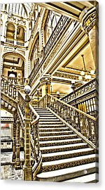 Acrylic Print featuring the photograph Palacio Postal by John  Bartosik